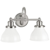Baxter 2 Light 16 inch Brushed Nickel Vanity Light Wall Light