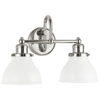 Baxter 2 Light 16 inch Polished Nickel Vanity Light Wall Light