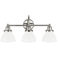 Capital Lighting 8303PN-128 Baxter 3 Light 24 inch Polished Nickel Vanity Wall Light