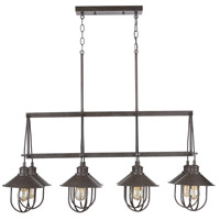 Capital Lighting 830881MI Pawley 8 Light 40 inch Mineral Brown Island Ceiling Light