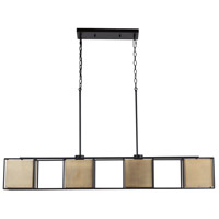 Capital Lighting 830941AB Paxton 4 Light 51 inch Aged Brass and Black Island Ceiling Light