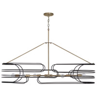 Capital Lighting 832161AB Arlo 6 Light 46 inch Aged Brass and Black Island Ceiling Light