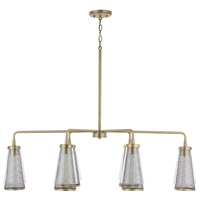 Capital Lighting 832361AD Abbott 6 Light 43 inch Aged Brass Island Ceiling Light