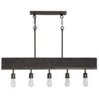Capital Lighting 835851CI Ashton 5 Light 42 inch Carbon Grey and Grey Iron Island Ceiling Light