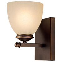 Chapman 1 Light 5 inch Burnished Bronze Sconce Wall Light in Mist Scavo