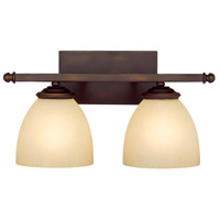 Chapman 2 Light 16 inch Burnished Bronze Vanity Wall Light in Mist Scavo