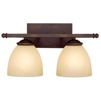 Capital Lighting 8402BB-201 Chapman 2 Light 16 inch Burnished Bronze Vanity Wall Light in Mist Scavo
