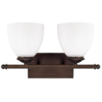 Capital Lighting 8402BB-202 Chapman 2 Light 16 inch Burnished Bronze Vanity Wall Light in Soft White photo thumbnail