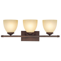 Capital Lighting Chapman 3 Light Vanity in Burnished Bronze with Mist Scavo Glass 8403BB-201