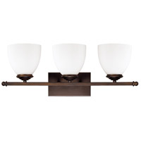 Chapman 3 Light 24 inch Burnished Bronze Vanity Wall Light in Soft White