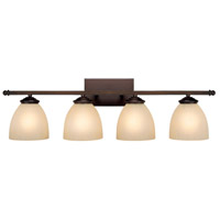 Capital Lighting Chapman 4 Light Vanity in Burnished Bronze with Mist Scavo Glass 8404BB-201