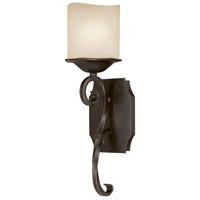 Capital Lighting Montana 1 Light Sconce in Raw Umber with Candlelight Glass 8431RM-205