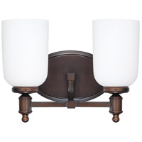 Capital Lighting Covington 2 Light Vanity in Burnished Bronze with Soft White Glass 8442BB-102