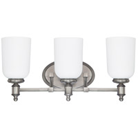 Capital Lighting Covington 3 Light Vanity in Antique Nickel with Soft White Glass 8443AN-102