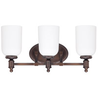 Capital Lighting Covington 3 Light Vanity in Burnished Bronze with Soft White Glass 8443BB-102