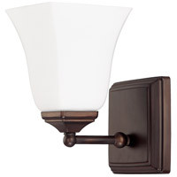 Capital Lighting Signature 1 Light Sconce in Burnished Bronze with Soft White Glass 8451BB-119 photo thumbnail