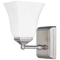 Capital Lighting Signature 1 Light Sconce in Brushed Nickel with Soft White Glass 8451BN-119