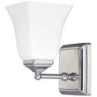 Capital Lighting Signature 1 Light Sconce in Polished Nickel with Soft White Glass 8451PN-119