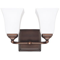 Capital Lighting Signature 2 Light Vanity in Burnished Bronze with Soft White Glass 8452BB-119