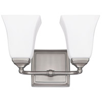 Capital Lighting Signature 2 Light Vanity in Brushed Nickel with Soft White Glass 8452BN-119