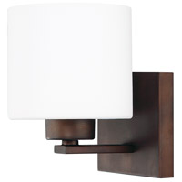 Capital Lighting Steele 1 Light Sconce in Burnished Bronze with Soft White Glass 8491BB-103