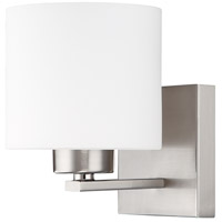 Capital Lighting Steele 1 Light Sconce in Brushed Nickel with Soft White Glass 8491BN-103