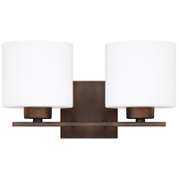 Capital Lighting Steele 2 Light Vanity in Burnished Bronze with Soft White Glass 8492BB-103