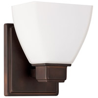 Capital Lighting Signature 1 Light Sconce in Burnished Bronze 8511BB-216