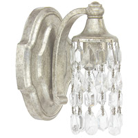 Blakely 1 Light 5 inch Antique Silver Sconce Wall Light in Clear Crystal