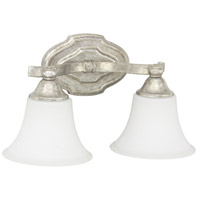 Capital Lighting Blakely 2 Light Vanity in Antique Silver with Soft White Glass 8522AS-114