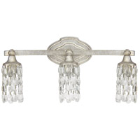 Blakely 3 Light 21 inch Antique Silver Vanity Wall Light in Clear Crystal