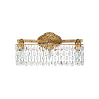 Capital Lighting Blakely 3 Light Vanity in Antique Gold with Crystals 8528AG-CR