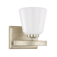 Capital Lighting Berkeley 1 Light Sconce in Winter Gold with Cased Opal Glass 8531WG-300