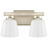 Capital Lighting Berkeley 2 Light Vanity in Winter Gold with Cased Opal Glass 8532WG-300