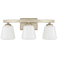 Capital Lighting Berkeley 3 Light Vanity in Winter Gold with Cased Opal Glass 8533WG-300