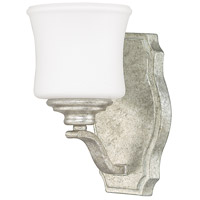 Capital Lighting Blair 1 Light Sconce in Antique Silver with Soft White Glass 8551AS-299