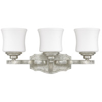 Capital Lighting Blair 3 Light Vanity in Antique Silver with Soft White Glass 8553AS-299