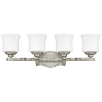 Capital Lighting Blair 4 Light Vanity in Antique Silver with Soft White Glass 8554AS-299