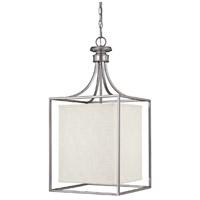 Capital Lighting 9041MN-472 Midtown 2 Light 14 inch Matte Nickel Foyer Ceiling Light in White Fabric Shade