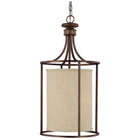 Capital Lighting Midtown 2 Light Foyer in Burnished Bronze with Frosted Diffuser Glass 9042BB-473