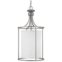 Capital Lighting Midtown 2 Light Foyer in Matte Nickel with Frosted Diffuser Glass 9042MN-474