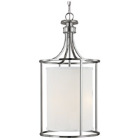 Capital Lighting Midtown 2 Light Foyer in Polished Nickel with Frosted Diffuser Glass 9042PN-474