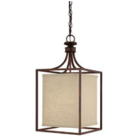 Capital Lighting Midtown 2 Light Foyer in Burnished Bronze with Frosted Diffuser Glass 9046BB-462