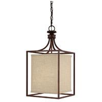 Capital Lighting 9046BB-462 Midtown 2 Light 11 inch Burnished Bronze Foyer Ceiling Light in Light Tan Fabric Shade