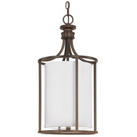 Capital Lighting Midtown 2 Light Foyer in Burnished Bronze with White Fabric Shade 9047BB-478