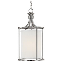Capital Lighting Midtown 2 Light Foyer in Polished Nickel with Frosted Diffuser Glass 9047PN-478