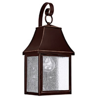 Capital Lighting Collins Hill 1 Light Outdoor Wall Lantern in New Bronze with Seeded Glass 9061NB