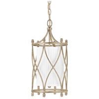 Capital Lighting Fifth Avenue 1 Light Foyer in Winter Gold with Frosted Glass Diffuser 9081WG-485