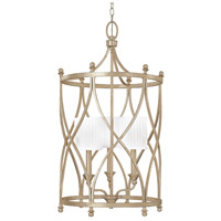 Fifth Avenue 3 Light 17 inch Winter Gold Foyer Ceiling Light