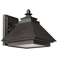 Capital Lighting Signature 1 Light Outdoor Wall Lantern in Burnished Bronze with Acid-Washed Glass Lens 9091BB